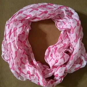 Breast cancer awareness ribbon scarf
